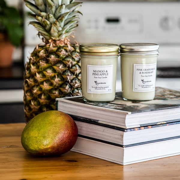Mango & Pineapple Soy Candle - 8 oz, 50+ hours of Clean Burning