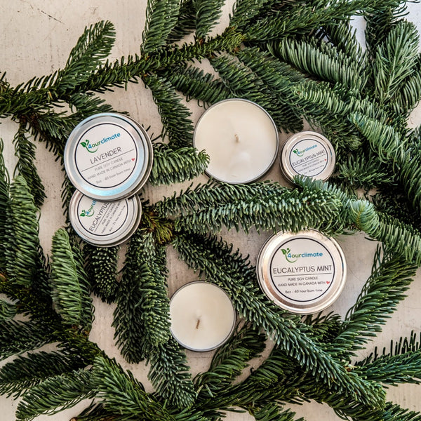 Eucalyptus Mint Soy Candle - 2-oz tin