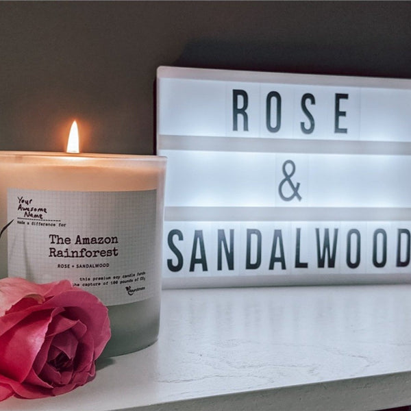 Amazonia Soy Candle - Rose & Sandalwood