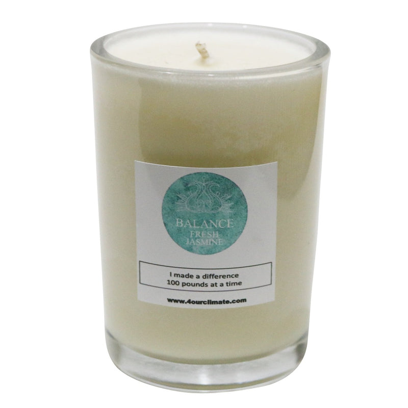 Balance - Mountain Air Yoga Candle -8 oz, 60+ hours of Clean Burning