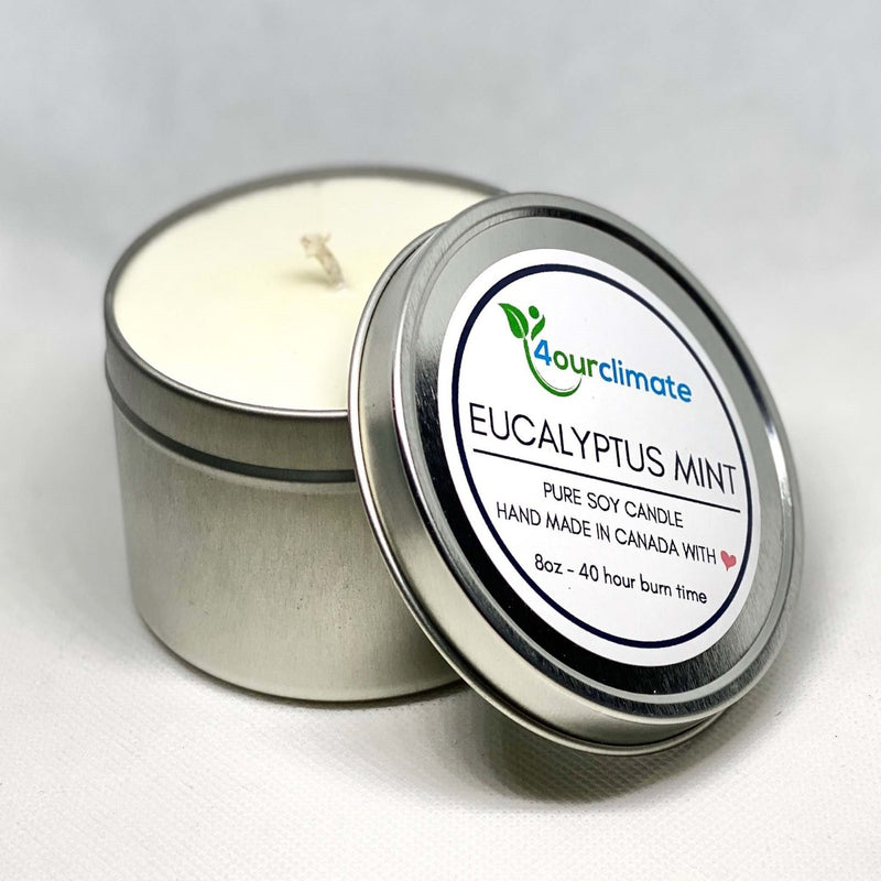 Polar Bear Soy Candle - 8-oz, Eucalyptus Mint