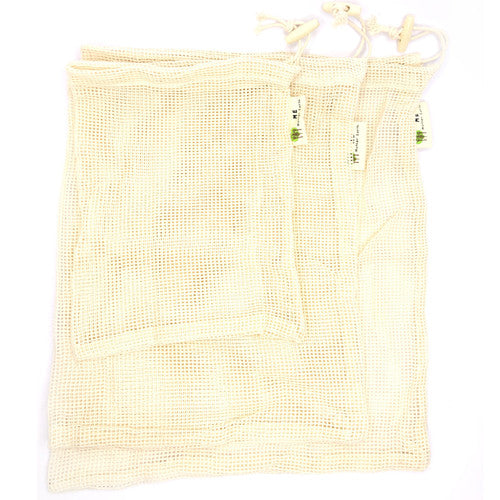 Reusable Cotton Produce Bags - 3 Pack