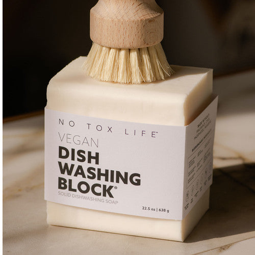 Dish & Vegetable Hand Brush - White Teakwood