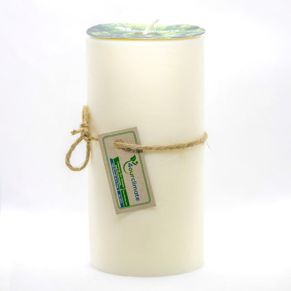 3x6 Unscented Pillar Soy Candle - 120+ hours of Clean Burning
