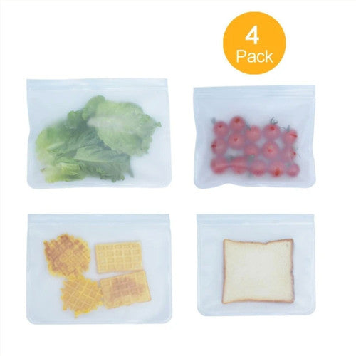 Reusable Ziplock Bag - 4 Pack (2XL, 2L)