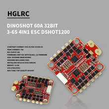 Load image into Gallery viewer, HGLRC DinoShot 60A 32bit 3-6S 4IN1 ESC