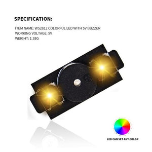 HGLRC WS2812 Colorful LED&5V Active Alarm Buzzer