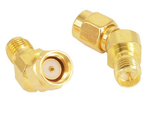 45 Degree Adapter Connector for FPV Goggle Antenna RPSMA Male to SMA Female