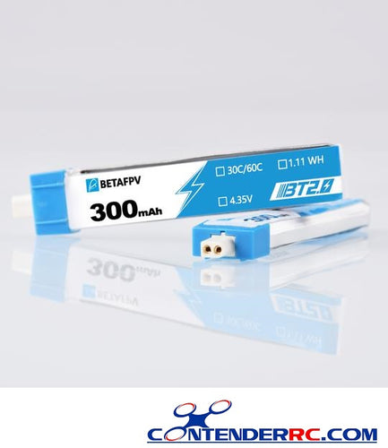 BetaFPV BT2.0 300mAh 1S 30C Battery (1PCS Only)