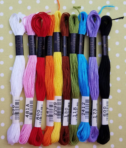 Cosmo Lecien Basic Colors 10-Skein Pack