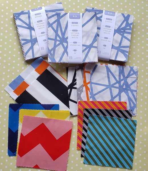 Stripes by Victoria Findlay Wolfe - 5x5 Charm Squares