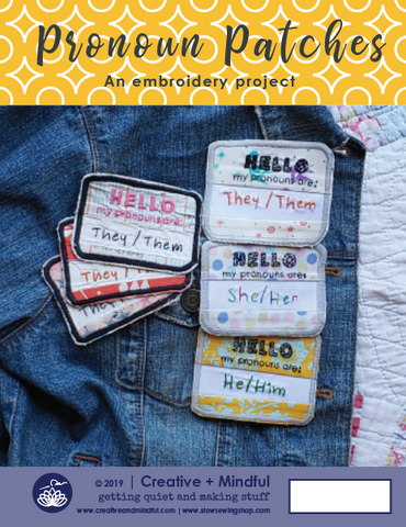 Pronoun Patches PDF Pattern