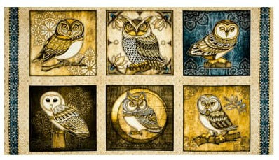 Where the Wise Things Are Owl Panel