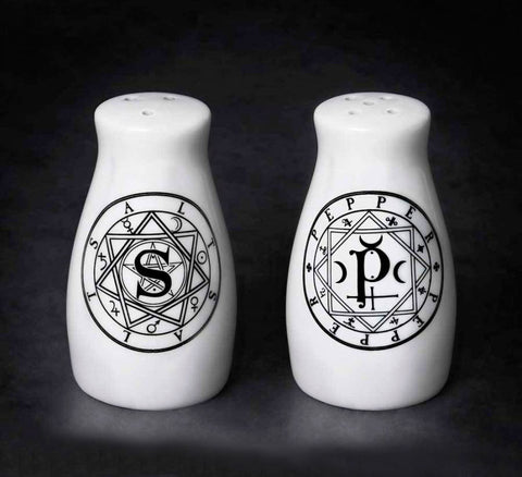 Sacred Geometry Salt and Pepper Shakers