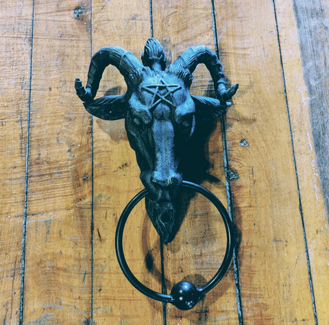 Baphomet Door Knocker