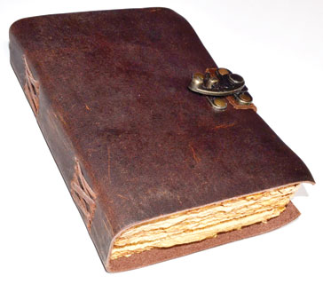 Aged Looking Paper Leather Journal With Latch