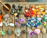 Crystals, stones, and minerals