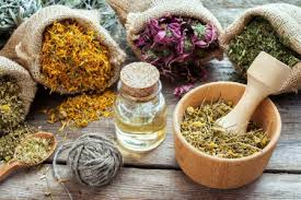 Herbs, flowers, roots and powders