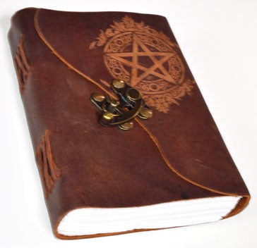 Pentagram Brown Leather Journal With Latch