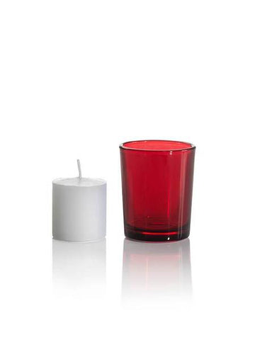Votive Candle With Holder - Assorted Colors