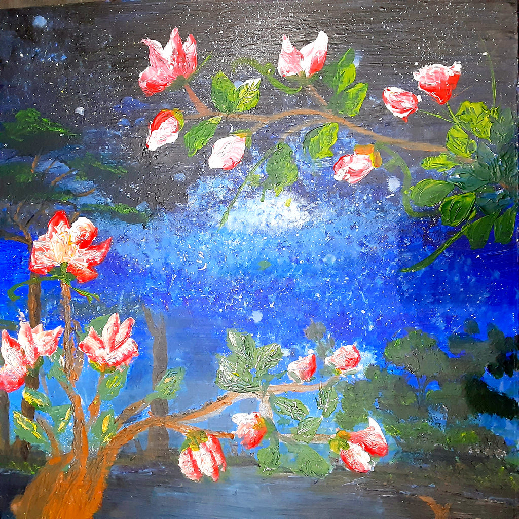 Flower Land Acrylic Painting on canvas ( Original )
