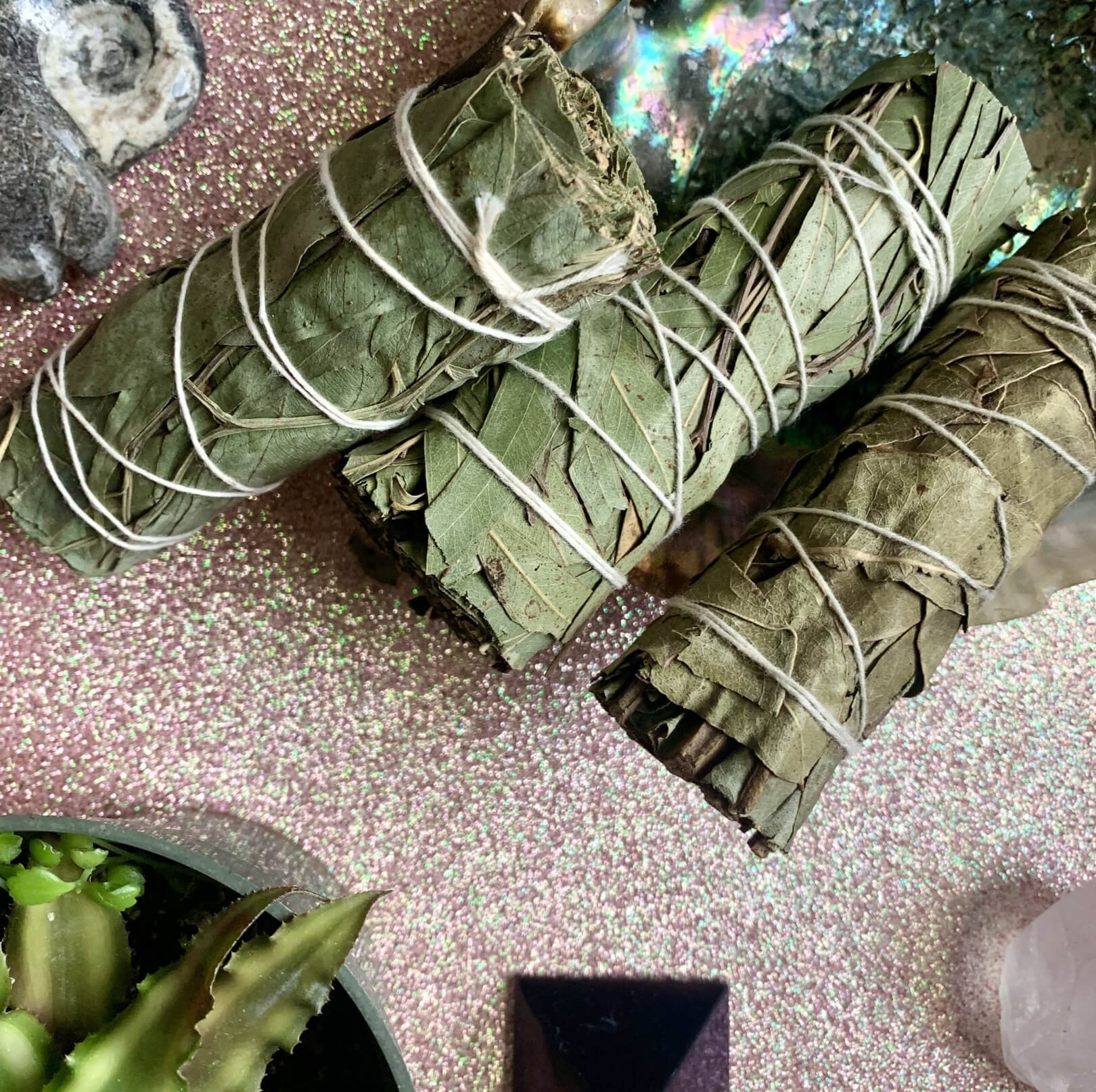 "Eucalyptus smudge stick 4 "" mini bundles"