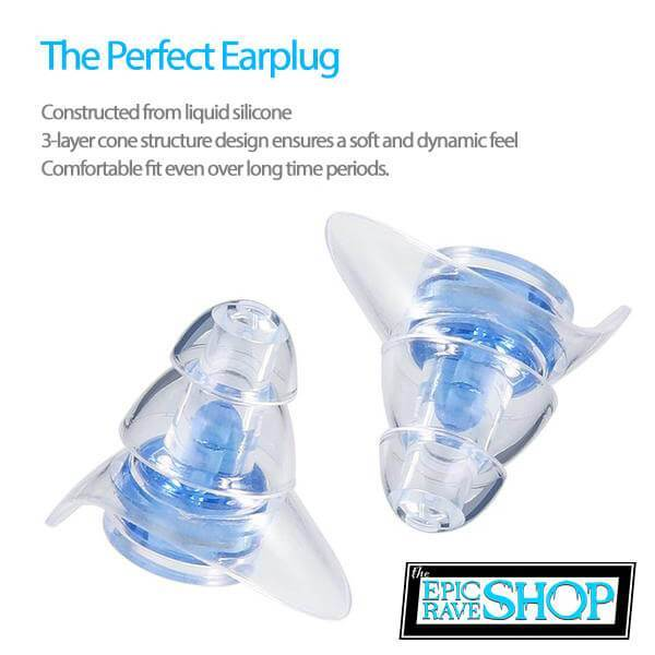 EPICRaveShop Hot Items Silicone Concert Earplugs + Acoustic Filters