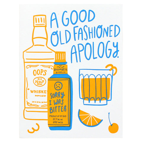 old fashioned apology