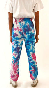 Tie Dye Joggers Purple and Blue