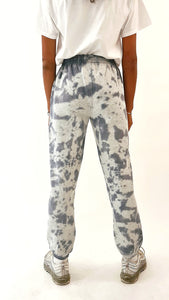 Tie Dye Joggers Grey and Black