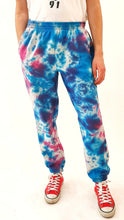 Load image into Gallery viewer, Tie Dye Joggers Purple and Blue
