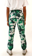 Load image into Gallery viewer, Tie Dye Joggers Green and Grey