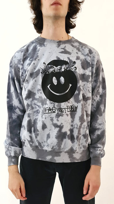 Wasp Factory Tie Dye Sweater Grey Black