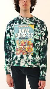 Rave Krispes Tie Dye Sweater green black
