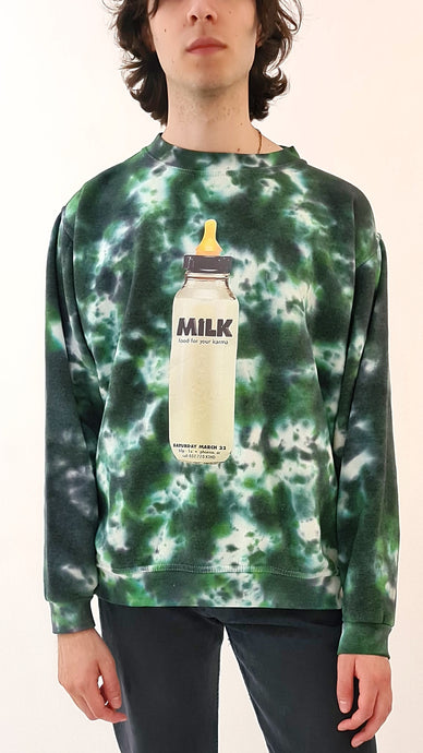 Milk Tie Dye Sweater green black