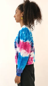 Culture Shock 91 Tie Dye Sweater Blue Purple
