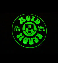 Load image into Gallery viewer, Acid House Glow In The Dark Short Sleeve Tee Black