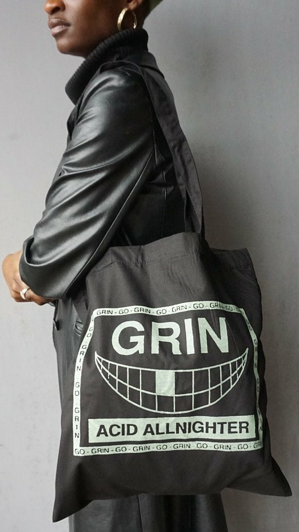 Go Grin Glow In The Dark Tote Bag