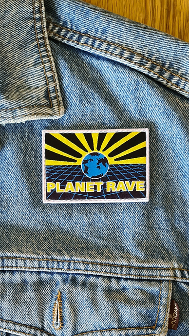 Planet Rave Iron on Patch