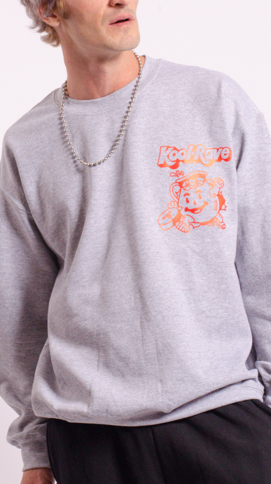 Kool-Rave Screen Printed Sweat Grey