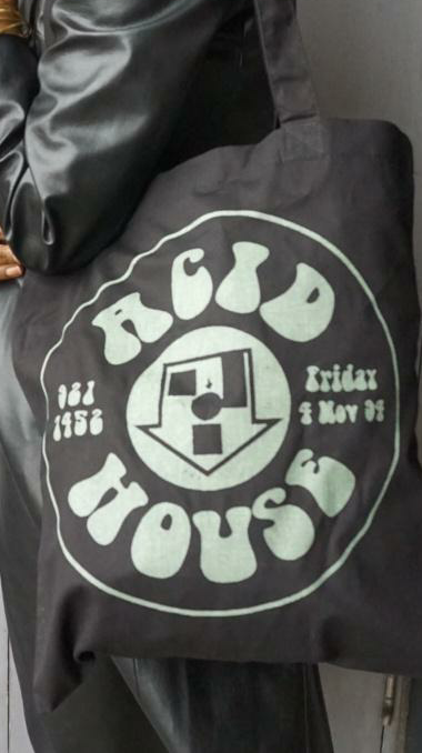Acid House Glow In The Dark Tote Bag