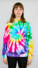 Load image into Gallery viewer, Culture Shock - Rainbow Spiral Tie Dye Hoody