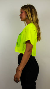 Third Eye Crop Top neon green