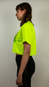 Juice Crop Top neon green