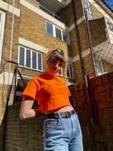 Load image into Gallery viewer, Big House Crop Top Neon Orange