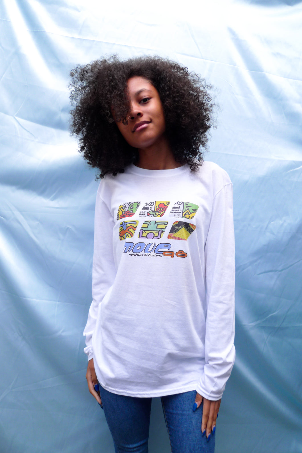 Move 98 Long Sleeve Tee White (SALE)