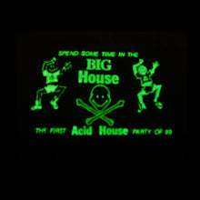 Load image into Gallery viewer, Big House Glow In The Dark Short Sleeve Cropped Tee Black