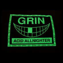 Load image into Gallery viewer, Go Grin Glow In The Dark Short Sleeve Cropped Tee Black