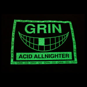 Go Grin Glow In The Dark Short Sleeve Cropped Tee Black