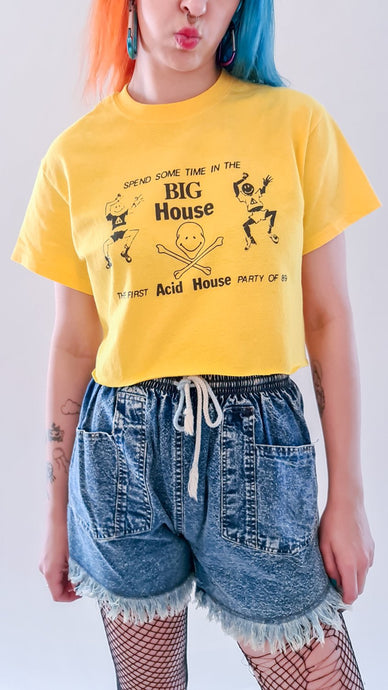 Big House Crop Top Yellow